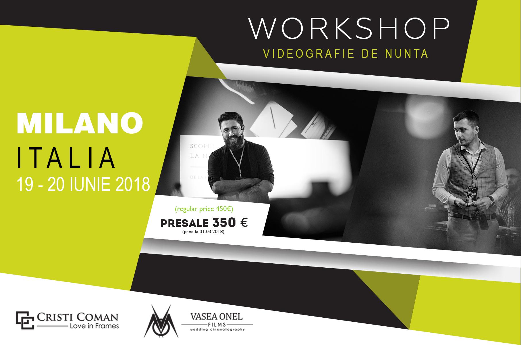 Workshop Cristi Coman & Vasea Onel | Milano - Italia